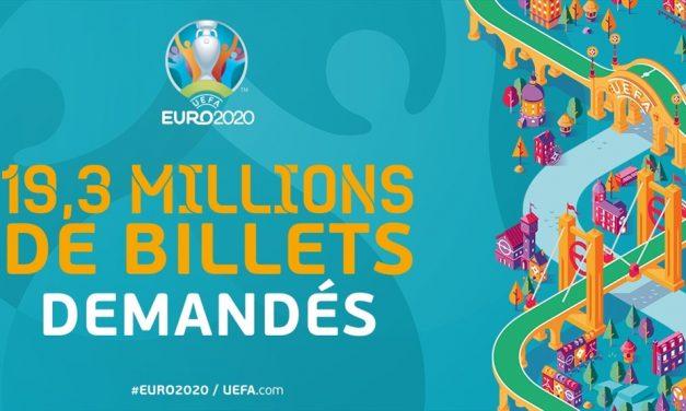 [Euro 2020] 19+ millions de demandes de billets